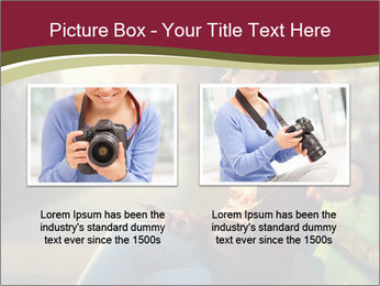 Young woman using a smart phone PowerPoint Template - Slide 18