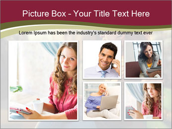 Young woman using a smart phone PowerPoint Template - Slide 19
