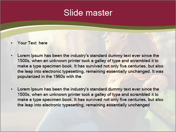 Young woman using a smart phone PowerPoint Template - Slide 2