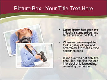 Young woman using a smart phone PowerPoint Template - Slide 20