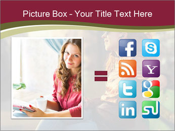 Young woman using a smart phone PowerPoint Template - Slide 21