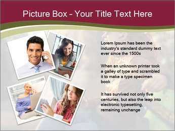 Young woman using a smart phone PowerPoint Template - Slide 23