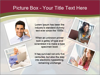 Young woman using a smart phone PowerPoint Template - Slide 24
