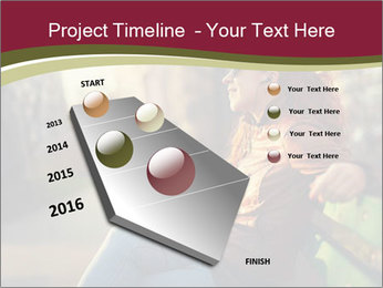 Young woman using a smart phone PowerPoint Template - Slide 26