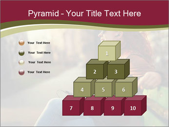 Young woman using a smart phone PowerPoint Template - Slide 31