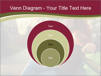 Young woman using a smart phone PowerPoint Template - Slide 34