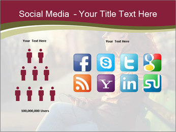 Young woman using a smart phone PowerPoint Template - Slide 5