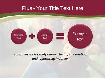Young woman using a smart phone PowerPoint Template - Slide 75