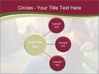 Young woman using a smart phone PowerPoint Template - Slide 79