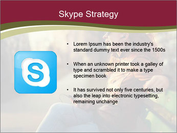 Young woman using a smart phone PowerPoint Template - Slide 8