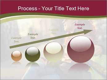 Young woman using a smart phone PowerPoint Template - Slide 87