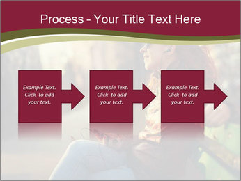Young woman using a smart phone PowerPoint Template - Slide 88