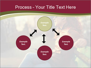 Young woman using a smart phone PowerPoint Template - Slide 91