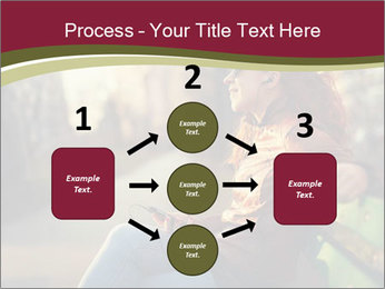 Young woman using a smart phone PowerPoint Template - Slide 92