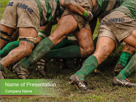Italian Rugby League match Parma vs Treviso PowerPoint Template
