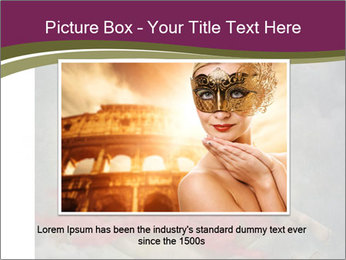 Beautiful naked woman sitting on the paper moon PowerPoint Template - Slide 16