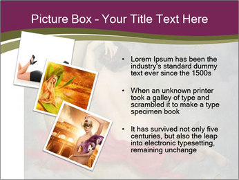 Beautiful naked woman sitting on the paper moon PowerPoint Template - Slide 17