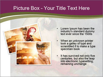 Beautiful naked woman sitting on the paper moon PowerPoint Template - Slide 20