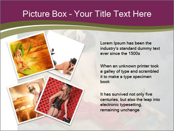 Beautiful naked woman sitting on the paper moon PowerPoint Template - Slide 23