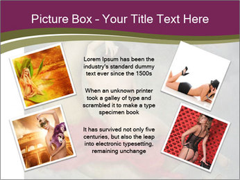 Beautiful naked woman sitting on the paper moon PowerPoint Template - Slide 24