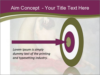 Beautiful naked woman sitting on the paper moon PowerPoint Template - Slide 83