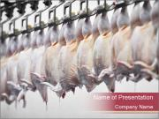 Food industry detail with poultry meat processing PowerPoint Templates