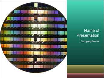 Silicon wafer PowerPoint Template - Slide 1
