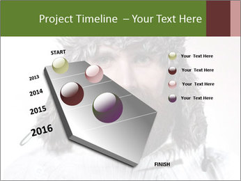 Portrait of a bearded wearing hat lumberjack PowerPoint Template - Slide 26