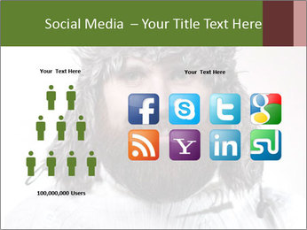 Portrait of a bearded wearing hat lumberjack PowerPoint Template - Slide 5