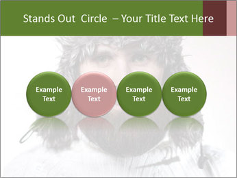 Portrait of a bearded wearing hat lumberjack PowerPoint Template - Slide 76