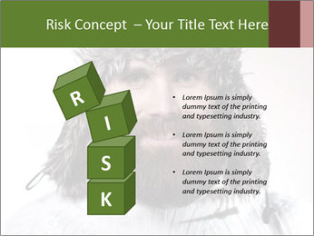 Portrait of a bearded wearing hat lumberjack PowerPoint Template - Slide 81