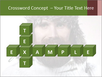 Portrait of a bearded wearing hat lumberjack PowerPoint Template - Slide 82