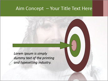 Portrait of a bearded wearing hat lumberjack PowerPoint Template - Slide 83