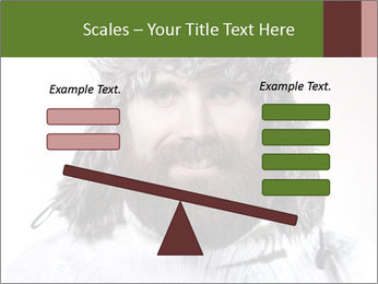 Portrait of a bearded wearing hat lumberjack PowerPoint Template - Slide 89