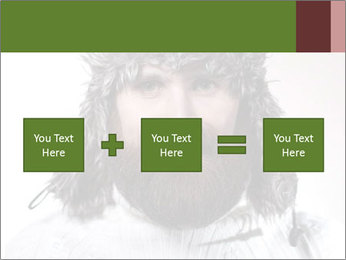 Portrait of a bearded wearing hat lumberjack PowerPoint Template - Slide 95
