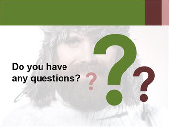 Portrait of a bearded wearing hat lumberjack PowerPoint Template - Slide 96