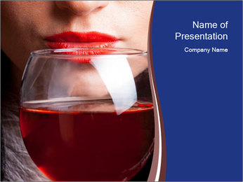 Glass of red wine PowerPoint Template