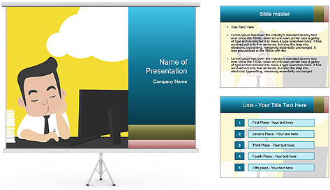 Painted dreamer PowerPoint Template