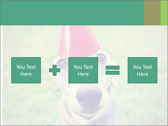 A cute dog in a local park with a birthday PowerPoint Templates - Slide 95