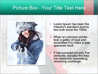 Happy girl winter snow runs PowerPoint Template - Slide 13