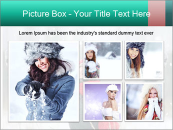 Happy girl winter snow runs PowerPoint Template - Slide 19