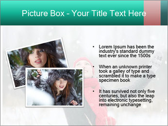 Happy girl winter snow runs PowerPoint Template - Slide 20