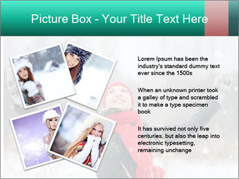 Happy girl winter snow runs PowerPoint Template - Slide 23