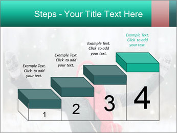 Happy girl winter snow runs PowerPoint Template - Slide 64