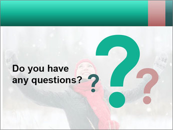 Happy girl winter snow runs PowerPoint Template - Slide 96