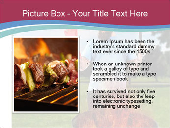 A man grilling with a fire that's too big PowerPoint Template - Slide 13