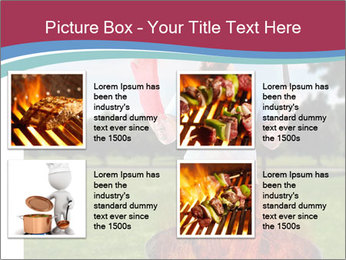 A man grilling with a fire that's too big PowerPoint Template - Slide 14