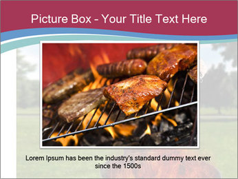 A man grilling with a fire that's too big PowerPoint Template - Slide 15