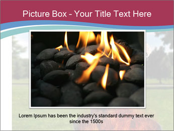 A man grilling with a fire that's too big PowerPoint Template - Slide 16