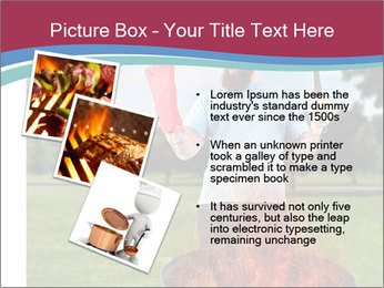 A man grilling with a fire that's too big PowerPoint Template - Slide 17
